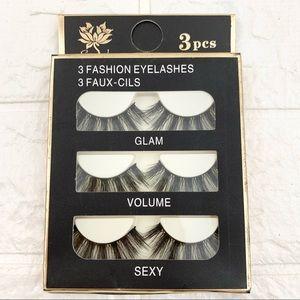 3 Pairs Fluffy False Eyelashes Lash Set Glam